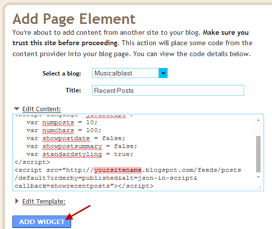 Simple Recent Posts Widget For Blogger / Blogspot / WordPress Blog
