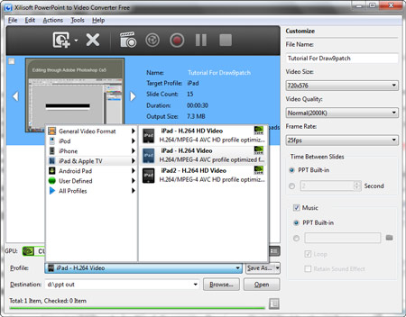 free desktop software to convert ppt to video