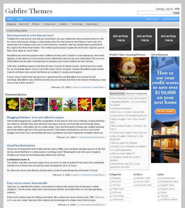 Gablog – Free WordPress Premium Theme Download