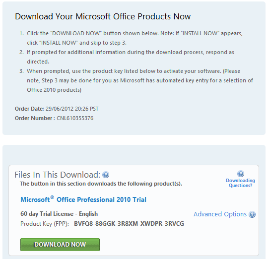 cara mengaktifkan product key microsoft office professional plus 2010