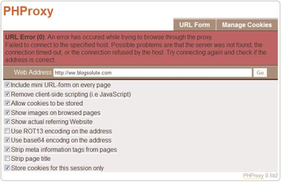 Create Your own Proxy Web server to access blocked websites