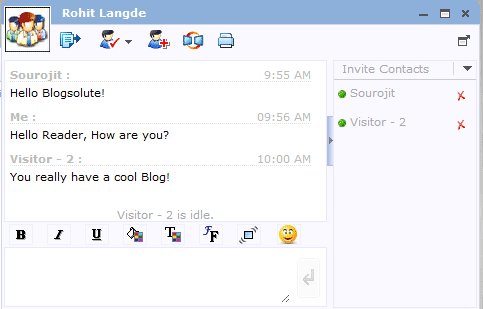 Chat Box for Blog - Zoho