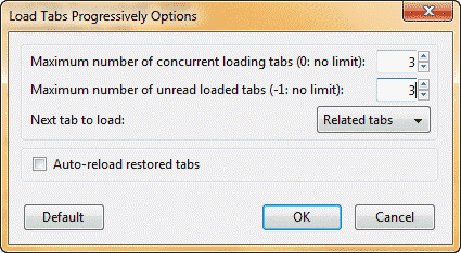 load tabs one after another