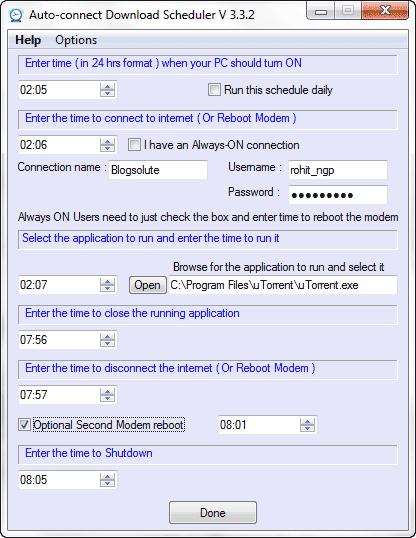 Auto Download Scheduler