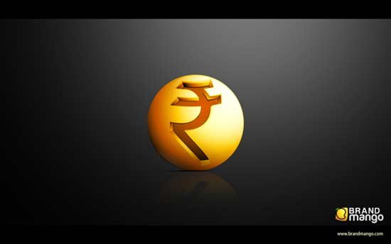 indian rupee symbol on web