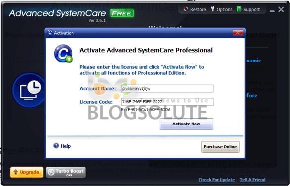 advanced systemcare 10.4 free key