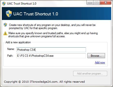 UAC trust
