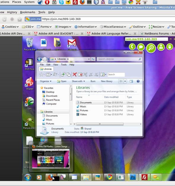 Sharing Screen online easy freeware