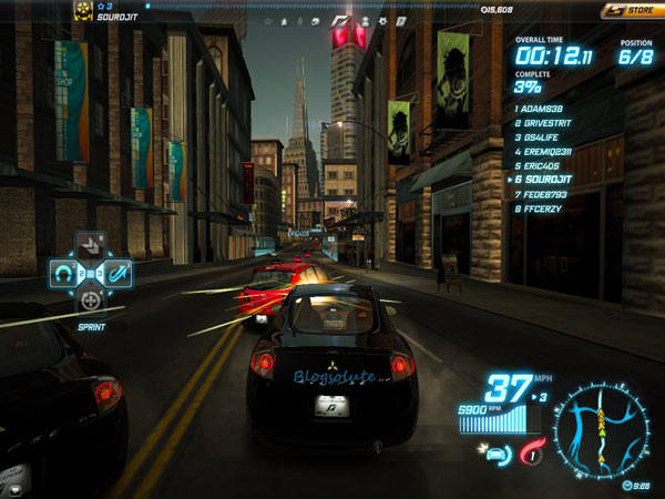 nfs world gaming experience
