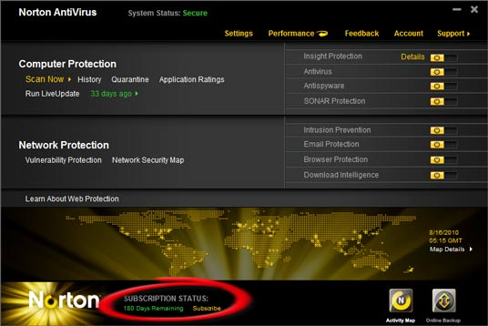 Norton Antivirus 2011 Product Key