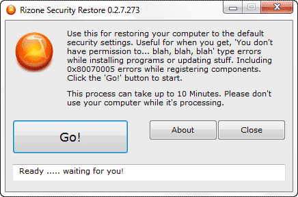 How to Restore Original Default Security Settings of Windows 7 in one click