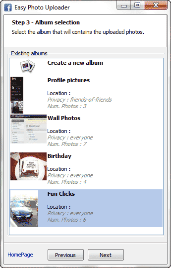 upload photos to facebook on right click