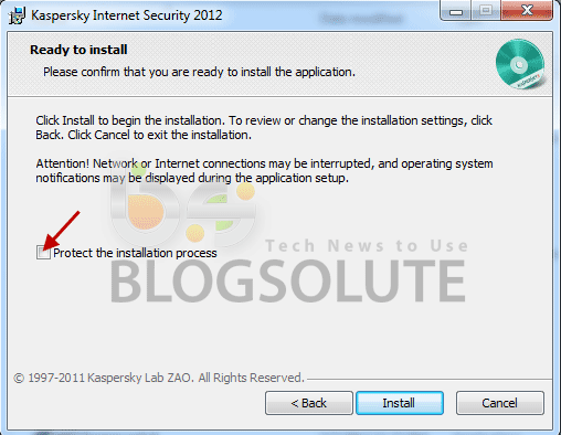 KIS 2012 activation key protection