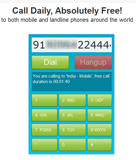 Free Calling from Internet Anywhere in World
