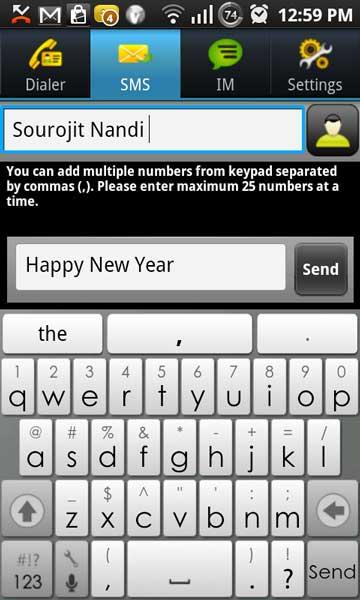 Free Long SMS Vopium India Asia