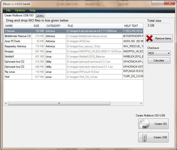Multiboot USB DVD