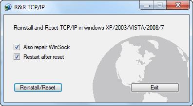 Reset Reinstall TCP IP
