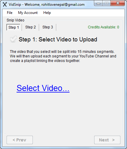 Upload Long Youtube videos