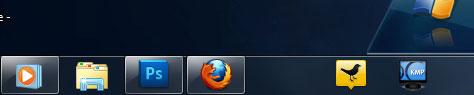 blank space on taskbar