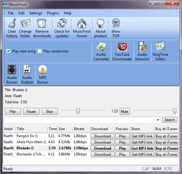Hindi Mp3 downloader Musicfrost