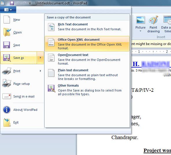 ODT to MS Office DOC convert