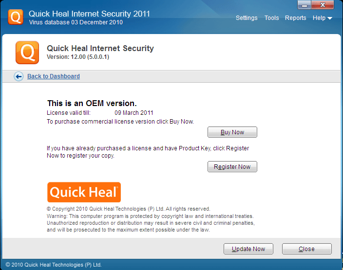 Quick Heal Antivirus License