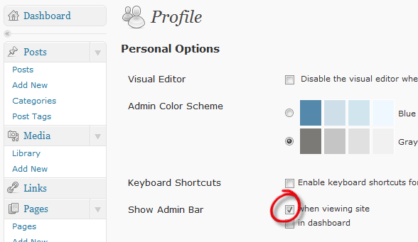Disable WordPress Admin Bar