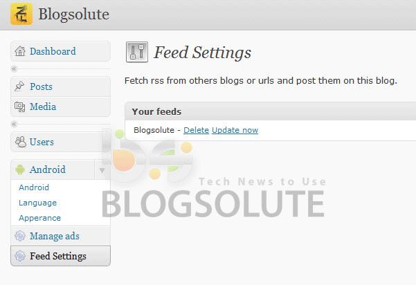 Android App for Wordpress Blogspot Blog