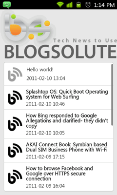 Build Android App for WordPress Blogspot Blog