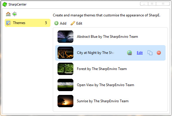 Sharpe Desktop Environment