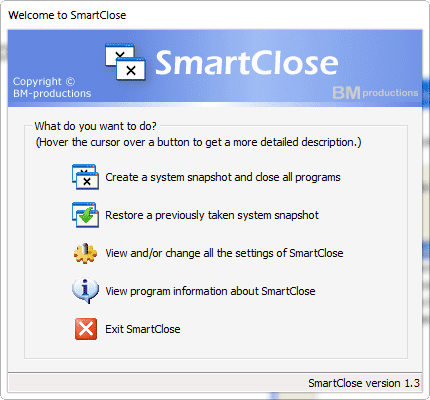 Smart Close and Restore