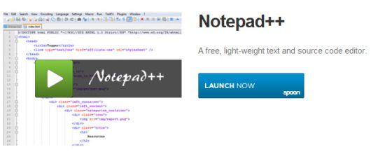 spoon notepad++ app