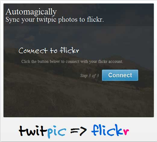 Sync Photos Twitpic to Flickr