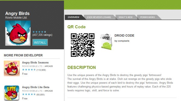How To Display Qr Codes Of Application In Android Web