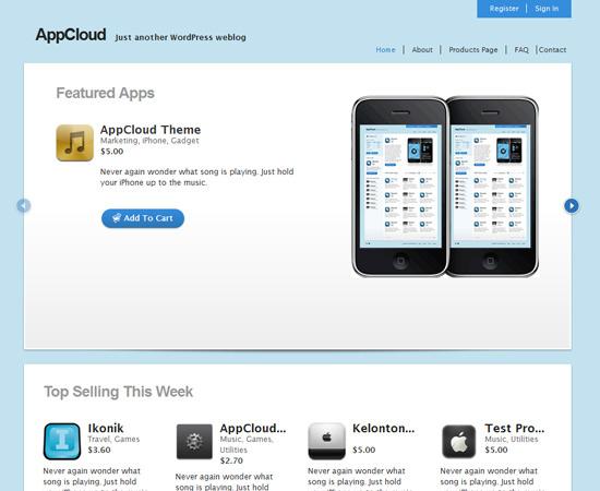 AppCloud- Free e Commerce Wordpress theme