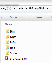 bada file extension