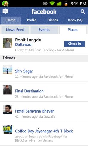 Facebook Places India