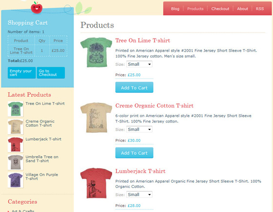 Free Crafty- Free e Commerce WordPress theme