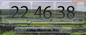 HTC like Aero Clock Gadget for Windows 7 Desktop | Horloger