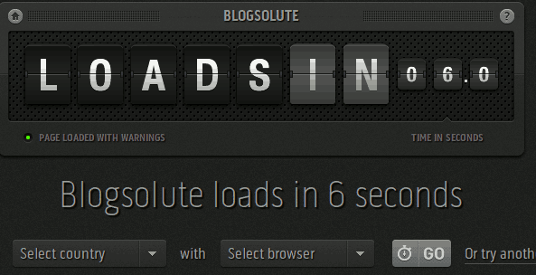 Test Blog Loading Time