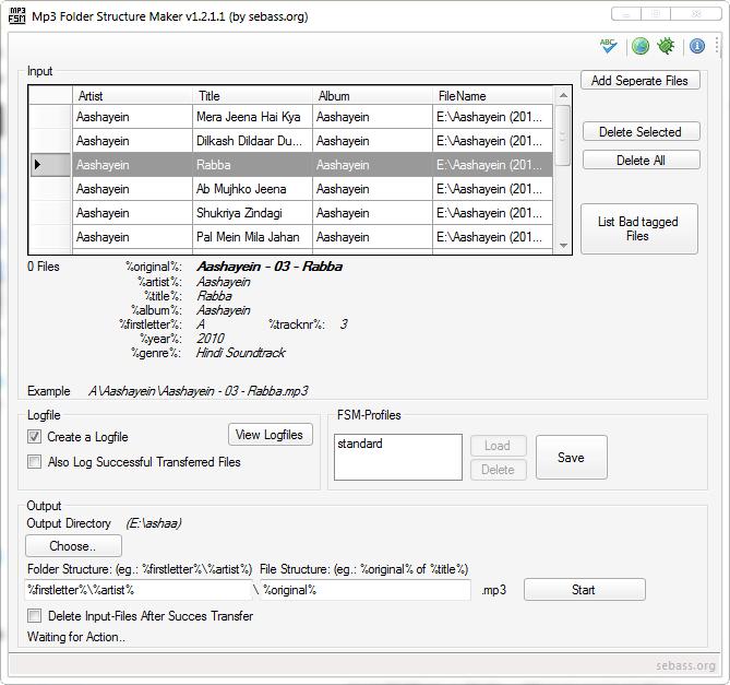 MP3 Folder Structure