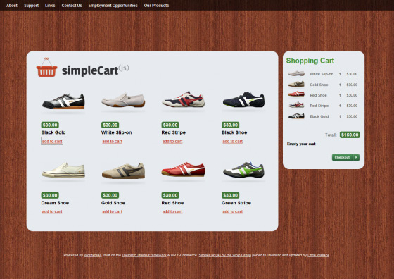 SimpleCart- Free Commerce WordPress theme