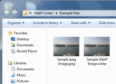WebP Codec for Windows