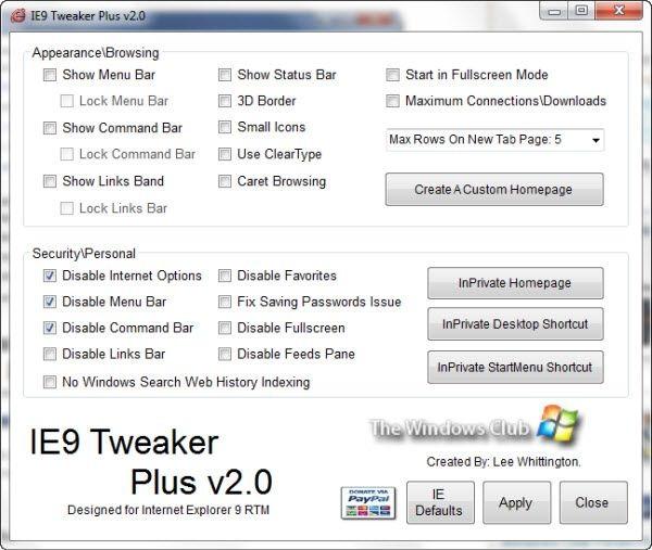 Tweak All Shortcomings of Internet Explorer 9 with IE9 Tweaker Plus