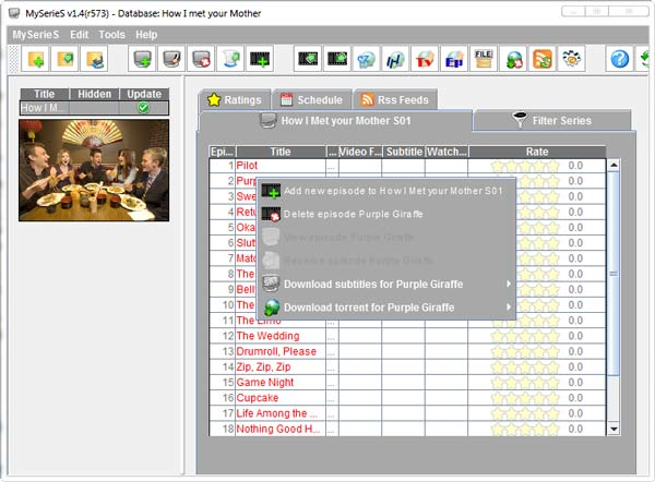 TV Series Organizer Software