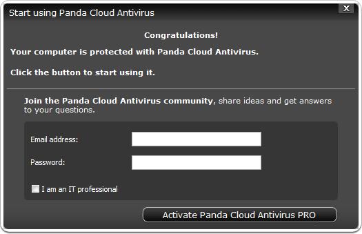 Panda Cloud Antivirus PRO 2012 Serial Key