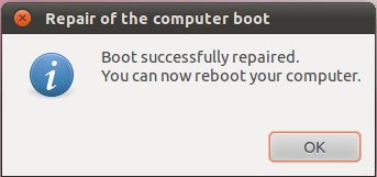 Boot Repair GRUB Bootloader