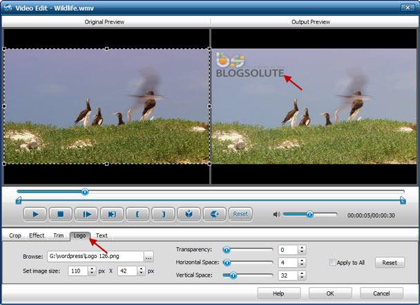 Add Logo Image Watermark to Video