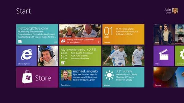 WIndows 8 Homescreen