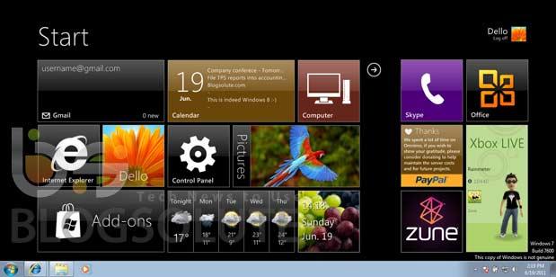 Windows 8 Start Screen Black